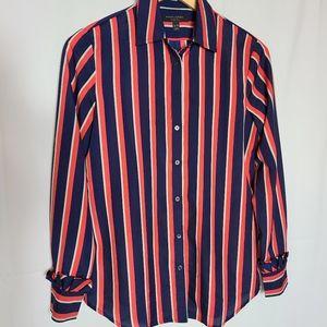 Banana Republic stripe long sleeve button blouse